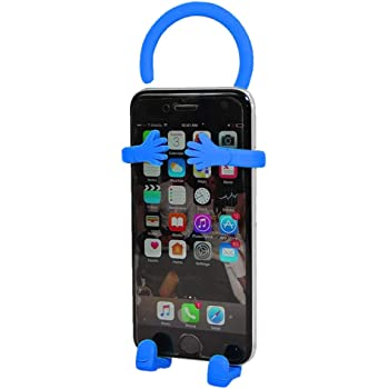 Flexible Cell Phone Holder Mount Premium Flexible Silicone That Bends in Any Direction You Choose Blue Home and car. Great for Bike
