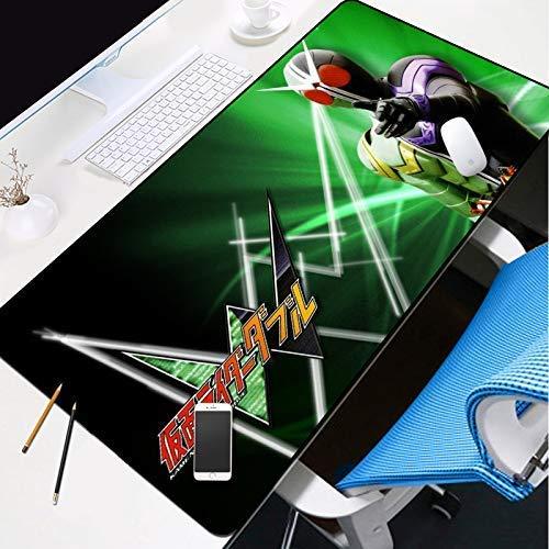 KCGNBQING Alfombrilla de ratón de juego, 700x300mm espesor de ratón extendido Almohadilla de escritorio resistente al derrame antideslizante con superficie lisa, anti-frito bordes cosidos para teclado