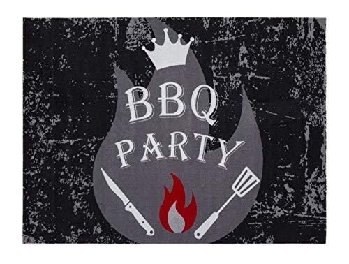 andiamo Grillmatte BBQ, robust, mehrer Grilldesigns & Größen Rechteck & Rund, Größe:90 x 120 cm, Farbe:Party