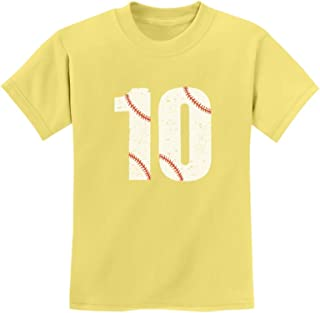 Tstars - 10th Birthday Gift for Ten Year Old Baseball Fan Youth Kids T-Shirt