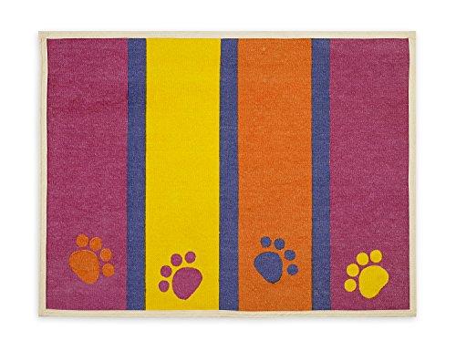 Buddy de Ligne Paws Tapis Strips-Fashion Avant, Acrylique, Multicolore