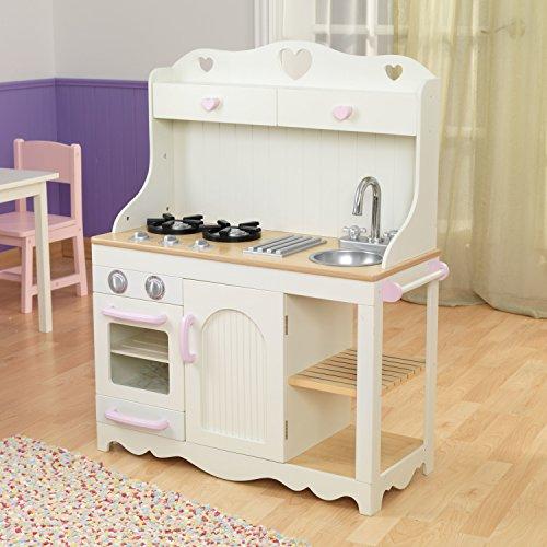 KidKraft 53151 Prairie Prärie-Spielküche aus Holz in Weiß Landhaus Kinderküche - 5