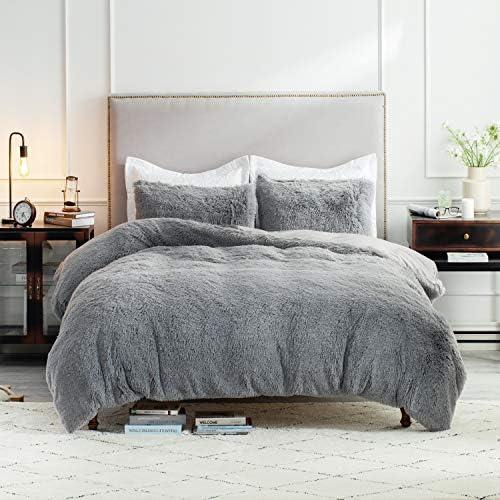 Bedsure Fluffy Duvet Cover Set King Size 104x90 Inches Luxury Ultra Soft Plush Shaggy Duvet product image