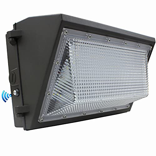 Dusk to Dawn 100W LED Wall Pack Light, 12000LM 400-600W HPS/HID Equivalent, 5000K Daylight Commercial Outdoor Security Lighting with Photocell Sensor, ETL for Parking Garages,Warehouse,Entrance