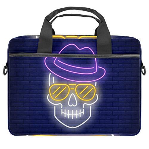 Lurnies Skull Head Hat Sonnenbrille Laptoptasche Einzigartig gedruckt Kompatibel mit 13-13,3 Zoll MacBook Pro, MacBook Air® Notebook 28x36.8x3 cm