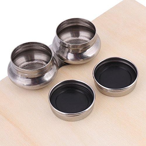 Ölfarbe Palette Tasse Edelstahl Doppelschöpflöffel Öl Container Lösungsmittel Behälter mit Deckel