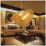 NA ZGGYA Linterna De Bambú Lámpara Colgante Japonesa Retro E27 Lámpara Colgante Luz De Techo Accesorio De Iluminación para Sala De Estar Dormitorio Restaurante Café Casa De Té Bar Comedor