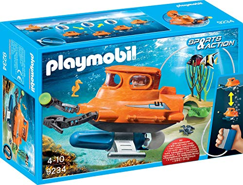 PLAYMOBIL- Submarino con Motor, Multicolor, única (9234)