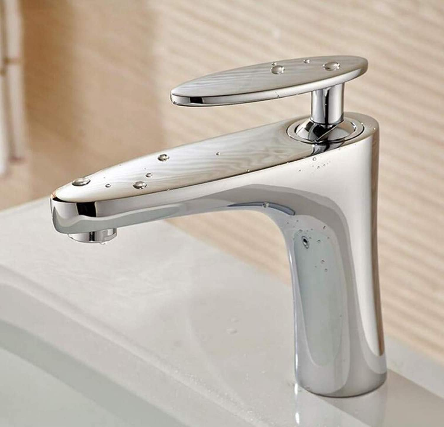Brass Hot and Cold Chrome Plating Brand Bathroom Hot and Cold Mixer Tap Solid Single Hand Brass Basin Faucet Chrome Faucet