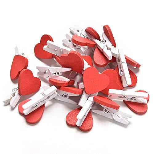 10 pinces à linge en bois 3,5 cm coeur favorise les pinces à linge bricolage SCRAPBOOKING avec corde