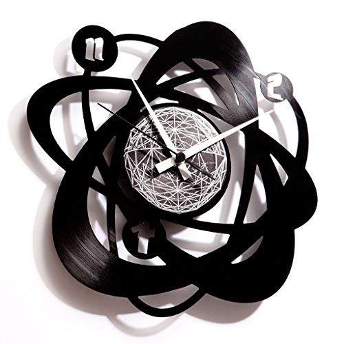 Disc'O'Clock Orologio in Vinile da Parete Lp 33 Giri Silenzioso Atomium -...