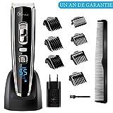 MOREASE Tondeuse Cheveux Hommes et Rasoir Barbe Professionnelle Electrique,Sans Fil,USB Rechargeable, Ecran LCD,28 Hauteurs de Coupe Réglables (1mm à 32.5mm)