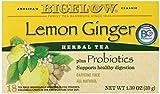 Bigelow Lemon Ginger Herb Plus Probiotics Tea - Caffeine Free - 18 Individually Wrapped Tea Bags by Bigelow Tea