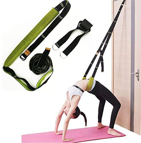 (green) - Xemz Back Bend Assist Trainer - Improve Back and Waist Flexibility, Door Flexibility Stretching Strap, Home Equipment for Ballet, Dance, Yoga, Gymnastics, Cheerleading, Splits