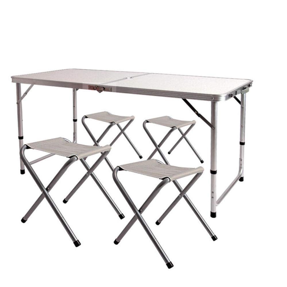 Deuba Tavolino alto giardino pieghevole rotondo /Ø 80cm altezza 110cm tavolo da bar bistro pub feste tavolo da esterno