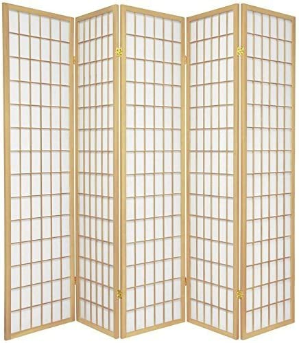 5 Panel High material Challenge the lowest price Room Divider - Natural