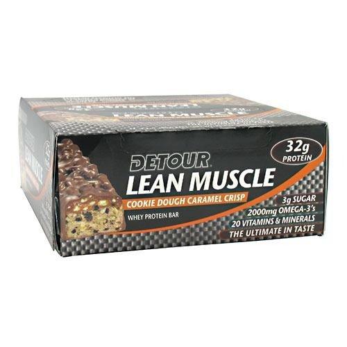 Forward Foods Detour Lean Muscle Bar Peanut Butter Choc Crunch 12 Bars