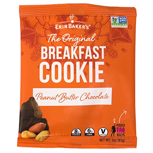 Erin Baker's Breakfast Cookies, Peanut Butter Chocolate, Whole Grain, Non-GMO, 3-ounce (Pack of 12)