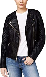 Geonna Quilted Faux Leather Moto Fashionable Jacket