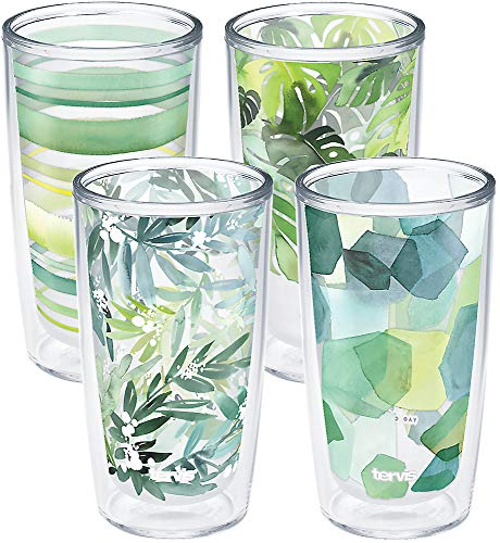 Tervis Yao Cheng - Crystal Insulated Tumbler, 16oz-4pk, Green Collection