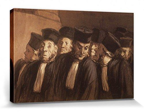 1art1 Honoré Daumier - Los Abogados Cuadro, Lienzo Montado sobre Bastidor (120 x 80cm)