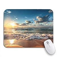 ECOMAOMI 可愛いマウスパッド ブルーHDR海の上の美しいCloudscape日の出ショットノンスリップゴムバッキングコンピューターマウスパッドノートブックマウスマット