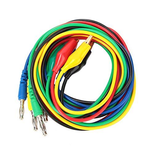 P1042 4 mm sonde meetsnoer kabel, banaanstekker naar 10 mm aligator clip adapter geschikt voor oscilloscoop testen elektronische apparatuur