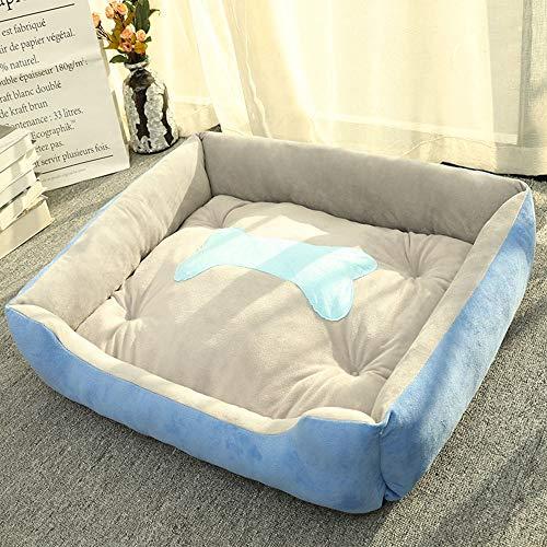 KDXBCAYKI Kennel mat Large Medium en Small Four Seasons Pet Supplies Dog Bed Heavy Duty Pet Bed hoes afneembaar en wasbaar stoel Lounge Sofa Hoekbank, M, Rosa Roja