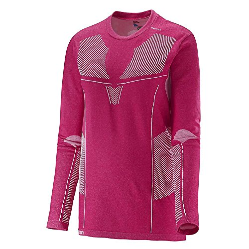SALOMON Primo Warm LS CN Tee W T-Shirt pour Femme M Rose (Gaura Pink)