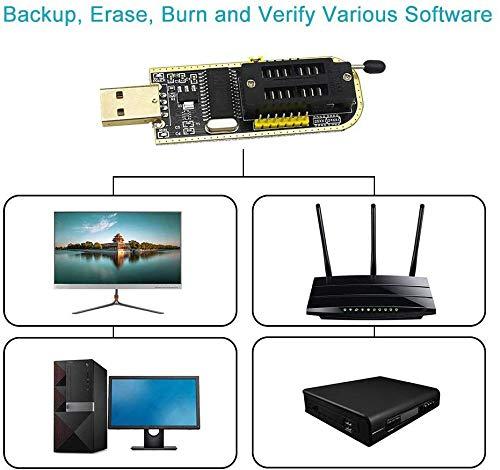 D-FLIFE CH341A 24 25 Series EEPROM Flash BIOS USB Programmer+SOIC8 SOP8 Test Clip+SPI Flash 1.8V Adapter+SOP8 SOIC8 to DIP8 Adapter Socket Converter