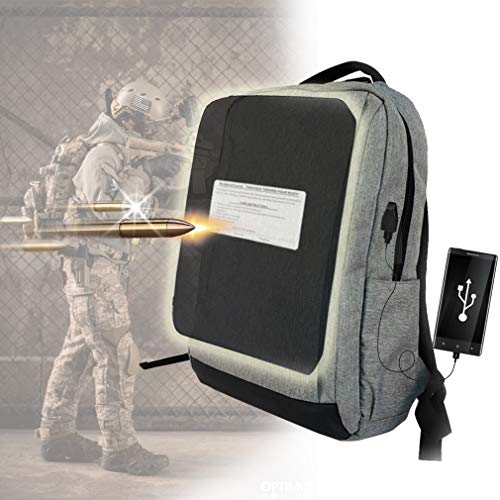 Bulletproof Backpack,Anti-Theft Laptop Backpack with Usb Charging Port Business Travel Bag Water Resistant Stab-Resistant Breathable Work Bag