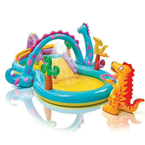Juegos hinchable Intex Dinosaurios Play Center, con piscina y tobogán Art 57135 NP