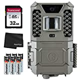 Bushnell 24MP Core Prime Brown Low Glow Trail Camera - 119932C + 32GB SD Card, 6 AA Batteries and Lens Cleaning Cloth