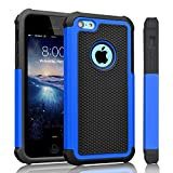 iPhone 5C Case, Tinysaturn(TM) [Ysaturn Series] Hybrid Shock Absorbing Dual Heavy Duty Hard Shell Rubber Inner Soft Silicone Armor Against Scratches Slim Cover Case for iPhone 5C [Blue/Black]