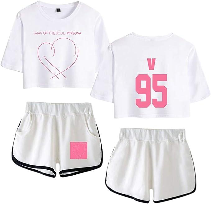 BTS Suit Suga V - Conjunto de Camiseta y pantalón Corto para ...