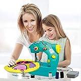 GOOCO Estilo De Costura Juego De Manualidades Pequeño Hogar Manual Eléctrico Niños Mini Portátil Máquina De Coser para Niños De Velocidad Conjunto