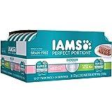 Iams Premium Cat Food Grain Free Perfect PORTIONS Indoor Multi Pack 6- (12-Servings) Salmon Recipe, 6- (12-Servings) Turkey Recipe