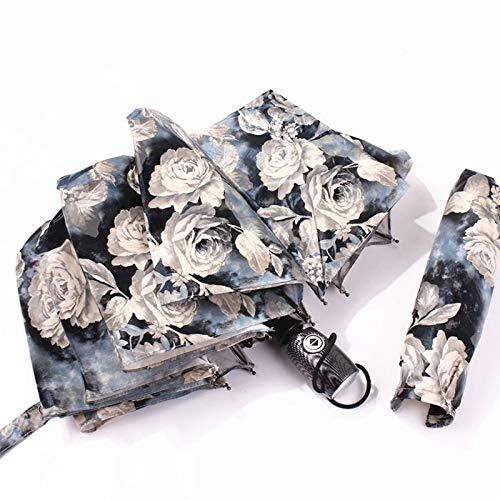 Ashy-wlj Totalmente automático paraguas de la lluvia Mujeres Anti-UV Paraguas lluvia a prueba de viento grande y fuerte for el doble for las mujeres señoras de la moda sombrilla ( color : Peony )
