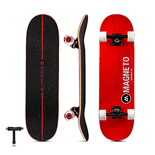 Magneto SUV Skateboards | Fully Assembled Complete 31' x 8.5' Standard Size | 7 Layer Canadian Maple Deck | Designed for All Types of Riding Kids...