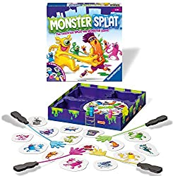 Fun play experience - Who will slap the most monsters and be the first to reach the ladder? A fun fast paced reaction game for Kids High quality components – 4x Slime Hands, 4x Slime Monsters, 10x City Monsters, 1x Trash Can, 1x Spinner with pointer ...