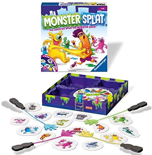 Ravensburger Monster Splat niños a Partir de 5 años-El Juego de reacción frenzied. Golpea a los Monstruos Tan rápido como Puedas, Color (20541)