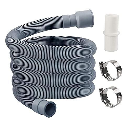 LINMAN Lavadora Lavavajillas Drenaje de residuos Manguera de residuos Outlet de Agua Expele Tubo Suave Estirable (Color : 2m, tamaño : 200cm)