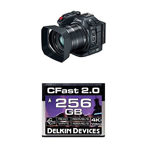 Amazing Deal Canon XC15 4K UHD Professional Camcorder with Delkin 256GB Cinema CFast 2.0 Memory Card