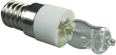 Luckything Ovenlamp, set van 4 stuks, 50 W E14, 12 V, hittebestendig, pelkachel, naaimachines, magnetronlamp, decoratieve ...