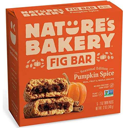 Nature's Bakery Pumpkin Spice Real Fruit, Whole Grain Fig Bar - 6 ct. (12 oz.) + Bonus Item