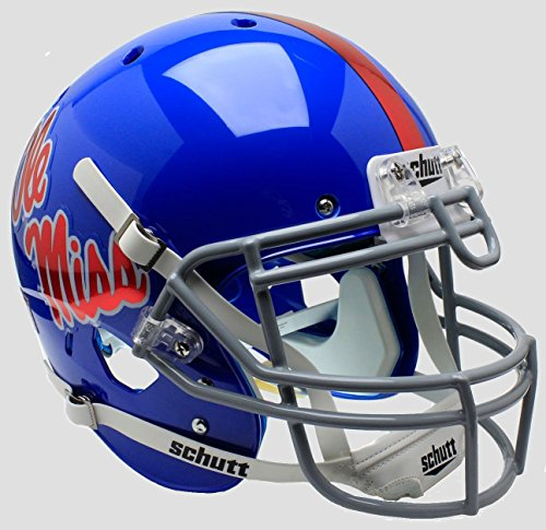 NCAA Mississippi Old Miss Rebels Unisex NCAA Ole Miss Rebels On-Field Authentic XP Football Helmetncaa Ole Miss Rebels On-Field Authentic XP Football Helmet, Alt, One Size