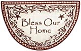 Brumlow Mills Bless Our Home Berry Blossoms Floral Welcome Door Mat for Entryway, Kitchen, or Home Décor Area Rug, 19' x 31', Deep Red