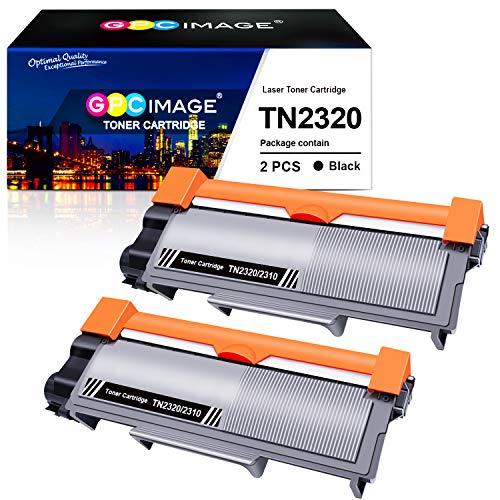 GPC Image TN2320 TN-2320 Toner Kompatible für Brother TN2310 TN-2310 für Brother MFC-L2700DW HL-L2340DW DCP-L2520DW HL-L2300D DCP-L2500D MFC-L2720DW HL-L2360DN DCP-L2560DW HL-L2365DW (2 Schwarz)