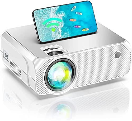 Bowmaker Tech Proyector WiFi Proyector Portatil Full HD 1080P Nativo Soporte Mini Proyector 6500 Lumenes para Cine en Casa Compatible con Android/iOS/Fire Stick/PS4 GC355