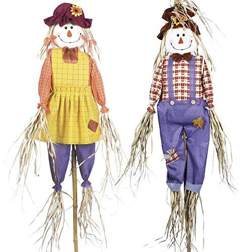 Garden Gear Scarecrows Garden Ornament Bird Deterrent Twin Pack (6ft Scarecrow Twin Pack)